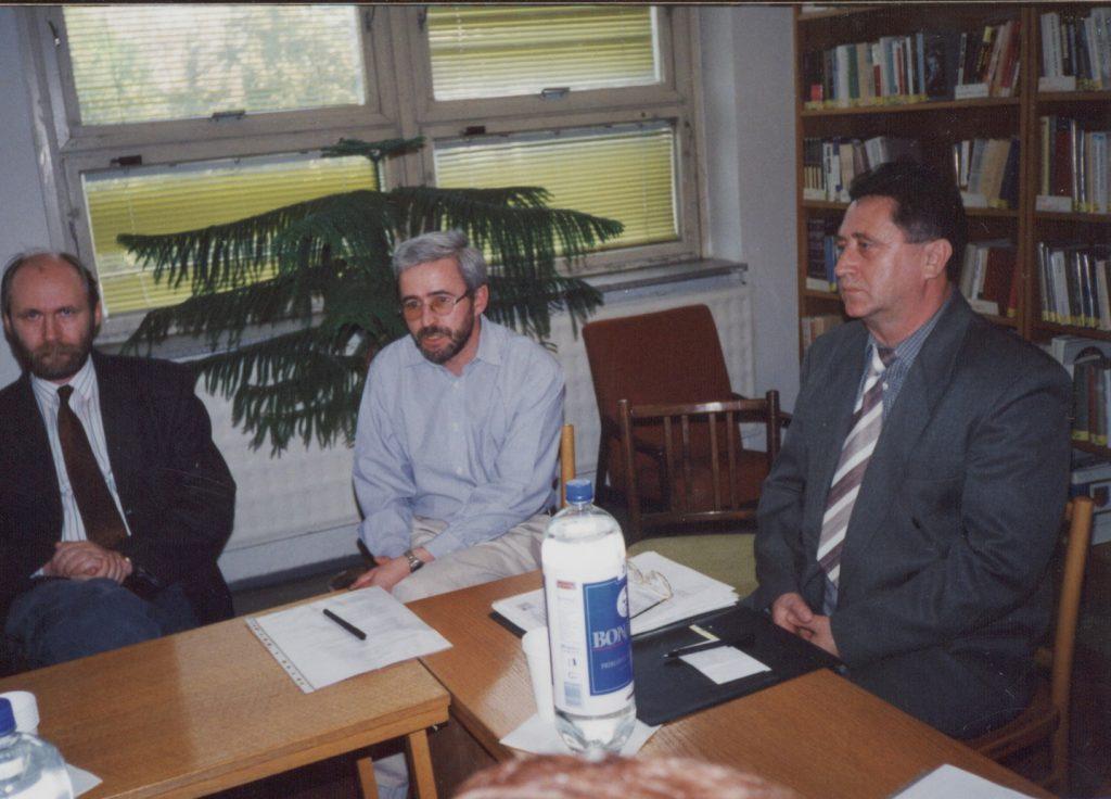 Könyvtárosok találkozója (a képen: Öllös László, Tóth Károly, Végh László)