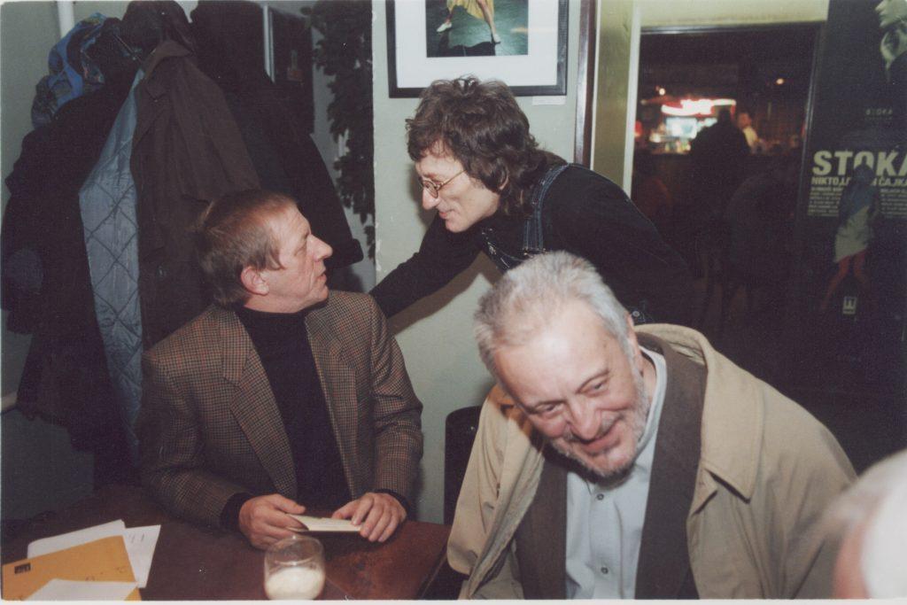 Kalligram baráti találkozó. (a képen: Szigeti László, Marián Varga, Milan Lasica)