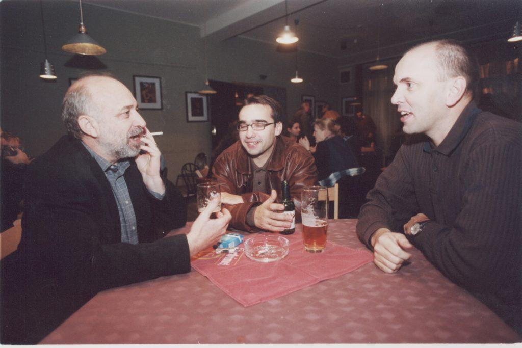 Kalligram baráti találkozó. (a képen: Barak László, Jarábik Gábor, Világi Oszkár)