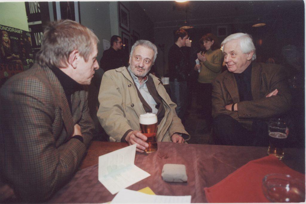 Kalligram baráti találkozó. (a képen: Szigeti László, Milan Lasica, Rudolf Chmel)