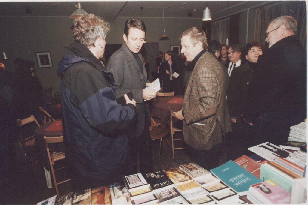 Kalligram baráti találkozó. (a képen: Ivan Miloš, Szigeti László)