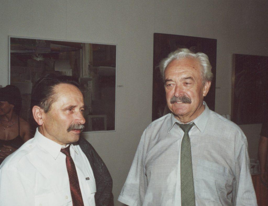 Kelemen Gertrúd, a MKKI igazgatónőjének búcsúztatása. (a képen: Takács András és Szabó Rezső)