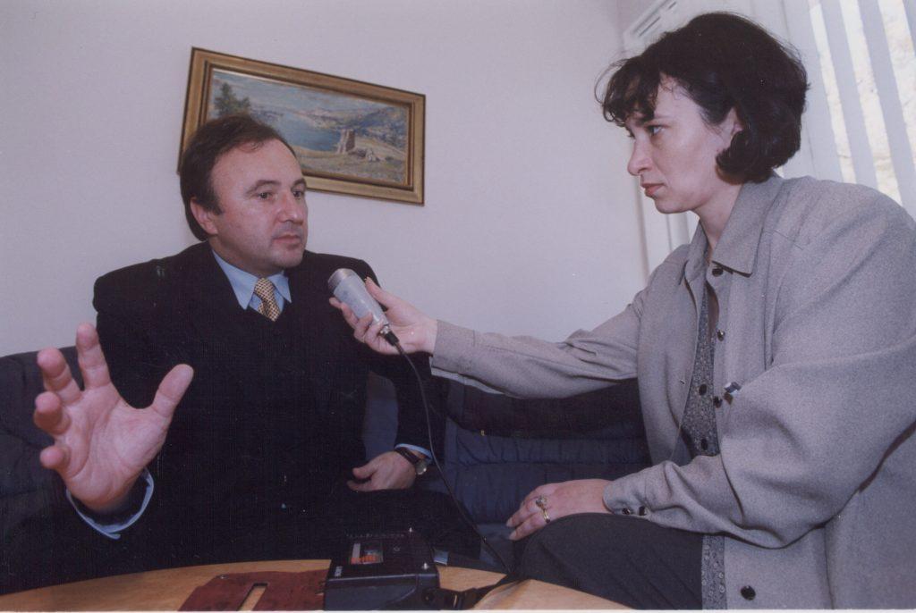 Csáky Pál interjú közben