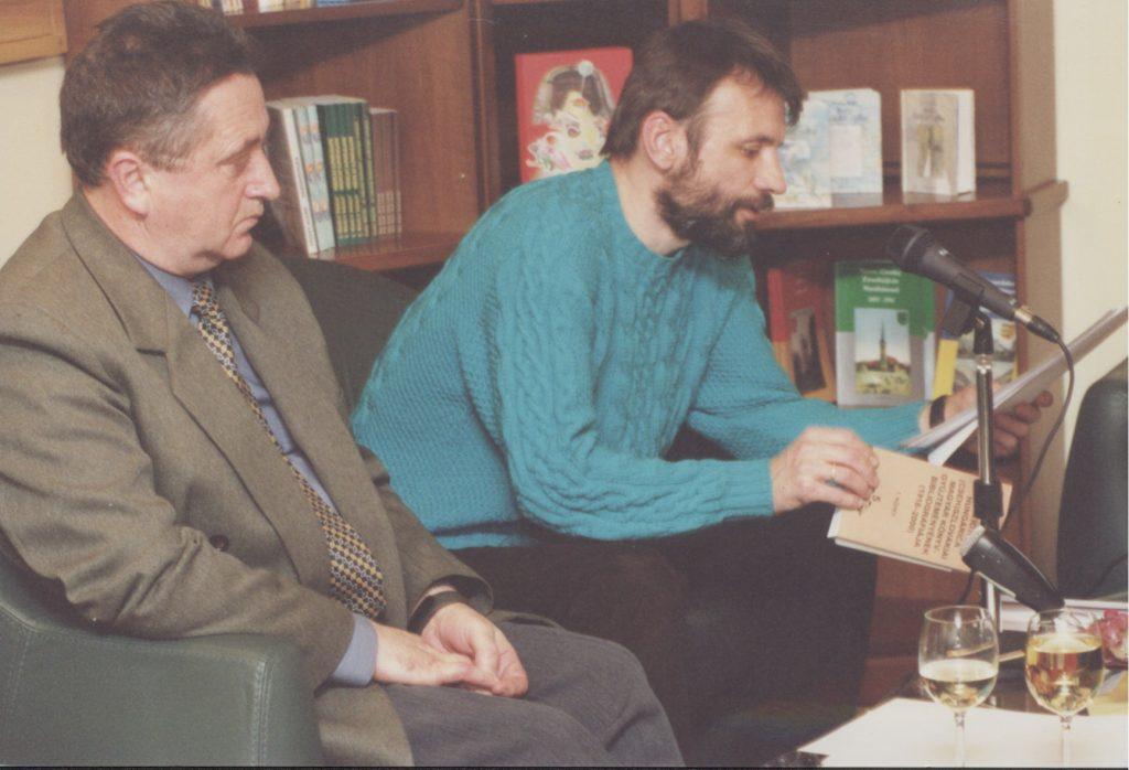 A Bibliotheca Hungarica könyvgyűjteményének bibliográfiája c. könyv bemutatója. (a képen: Végh László és Csanda Gábor)