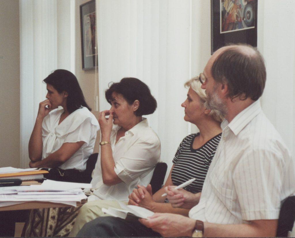 Sándor Anna könyvbemutatója. (a képen: Polgár Hajnalka, Sándor Anna, Kocsis Aranka, Gyurgyík László)