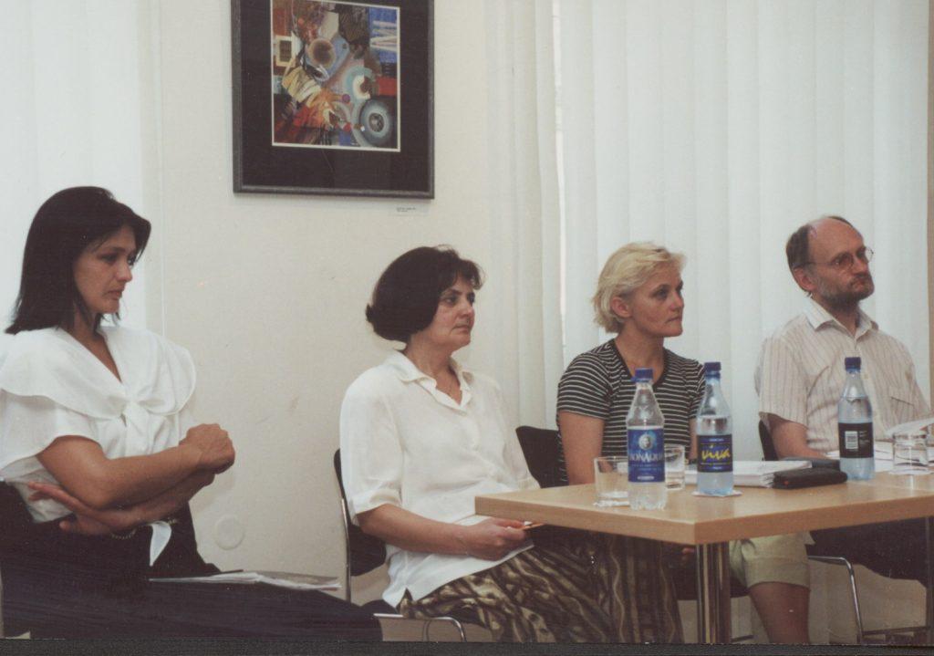 Sándor Anna könyvbemutatója. (a képen: Polgár Hajnalka, Sándor Anna, Kocsi Aranka, Gyurgyík László)