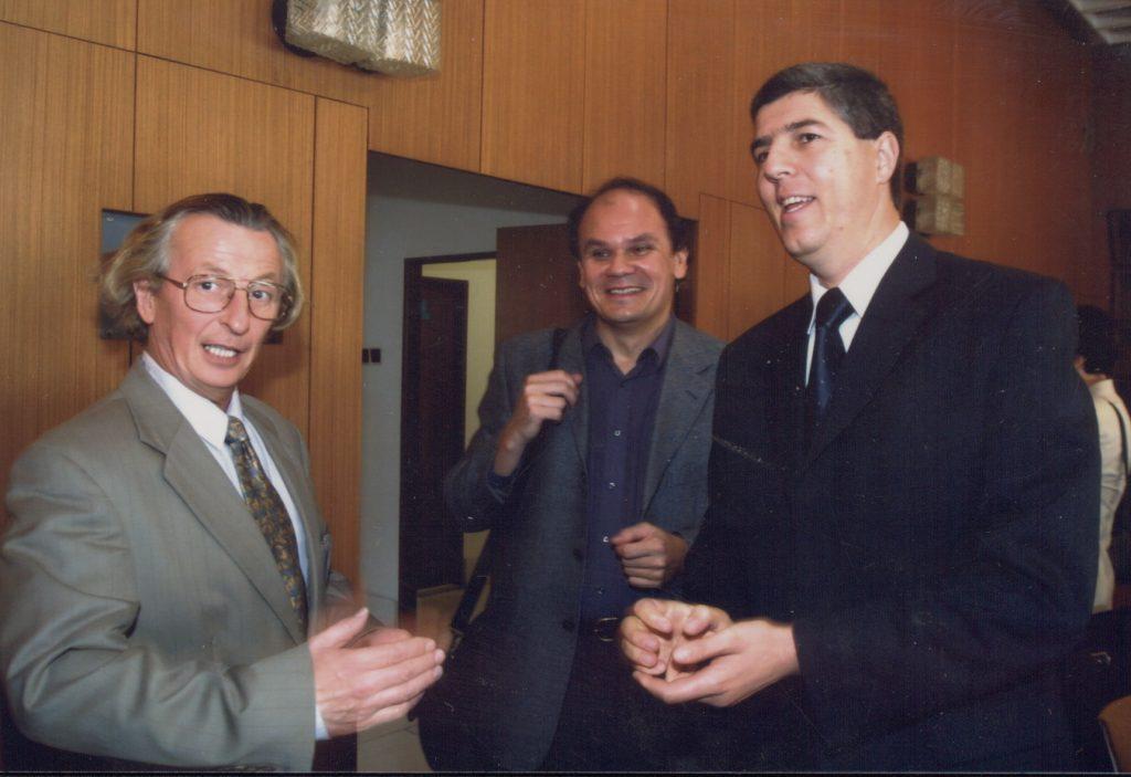 Értelmiségi találkozó Dunaszerdahelyen. (a képen: Hunčík Péter, ism, Bugár Béla)