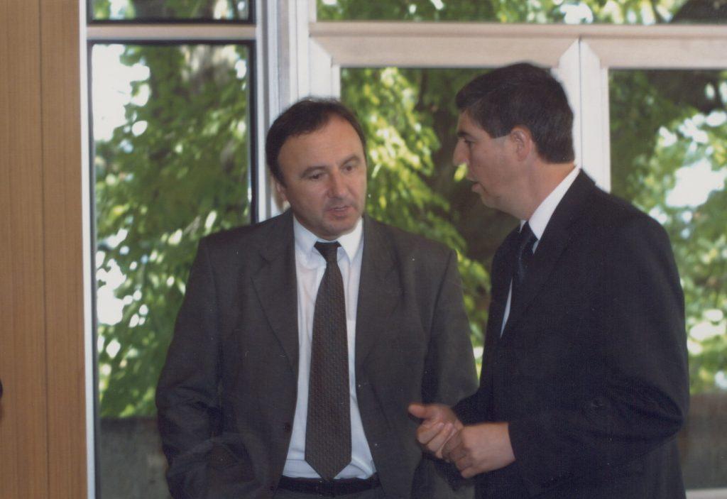 Értelmiségi találkozó Dunaszerdahelyen. (a képen: Csáky Pál, Bugár Béla)