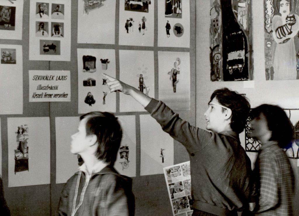 Kiállítás Szkukálek Lajos Keszeli Ferenc verseihez készült illusztrációiból. (XI. Dunamenti Tavasz)