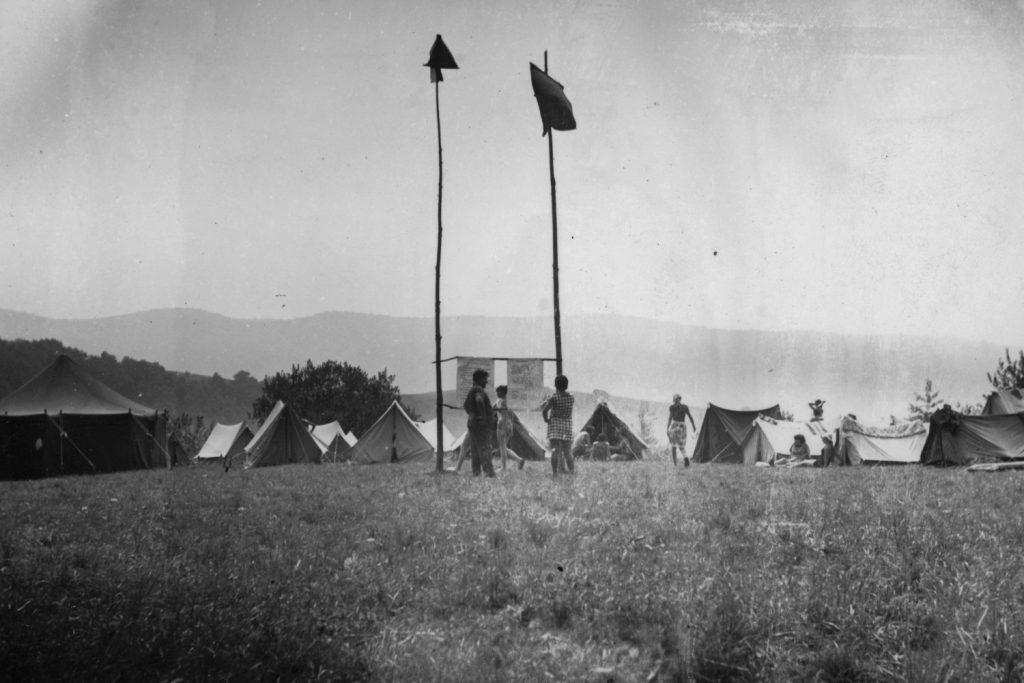 A szádalmási táborhely látképe.