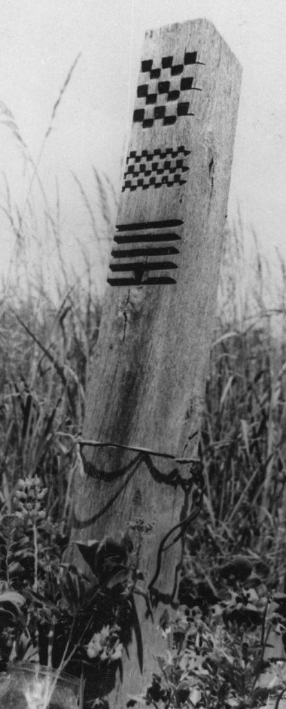 Fejfa a bodrogszedahelyi temetőben.