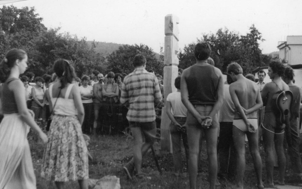 Kojafa avatása az ipolysági művelődési táborban.