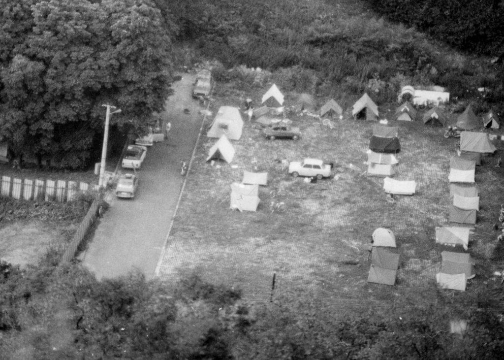 A tábor látképe az ajnácskői várból.