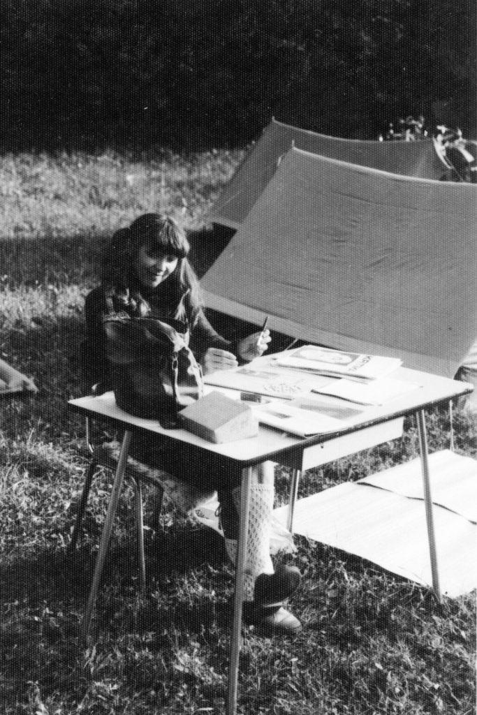 Adminisztráció a gombaszögi táborban.