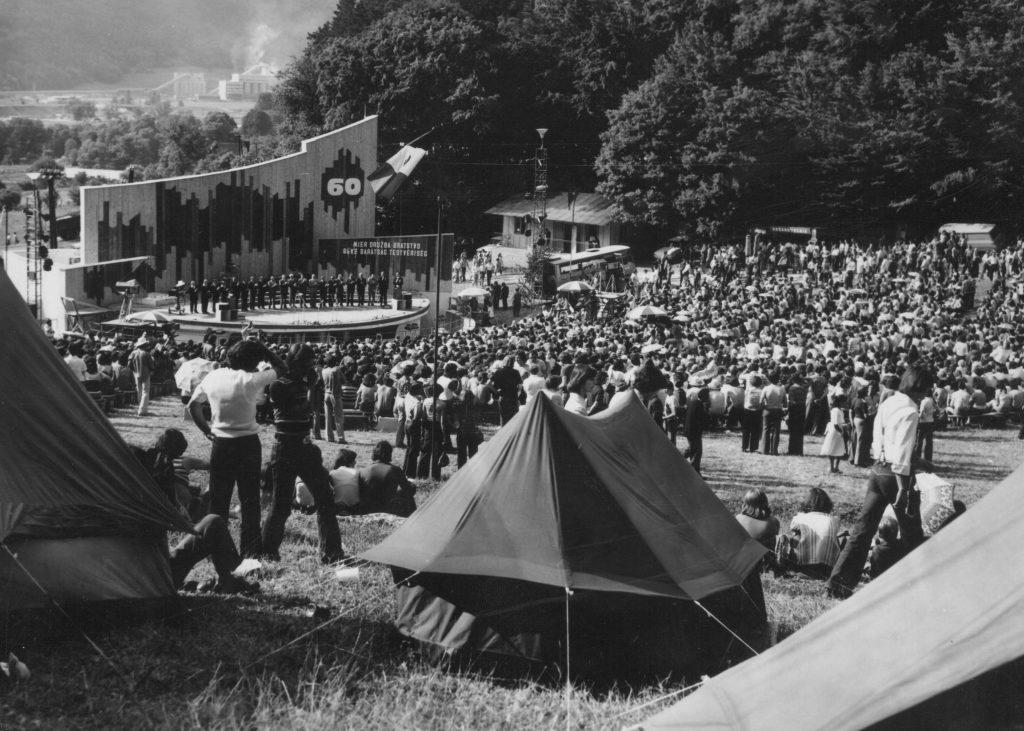 A közönség. Az ünnepi megnyitó. (XXII. Országos Kulturális Ünnepély)