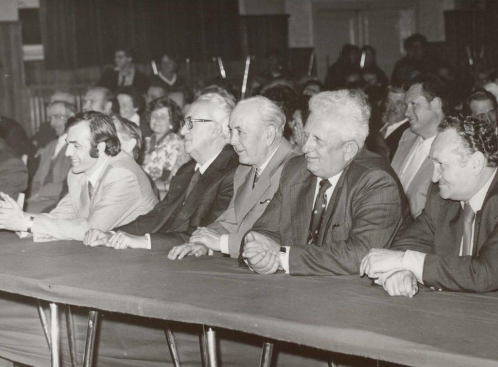 A CSEMADOK 30. évfordulójának ünnepsége.