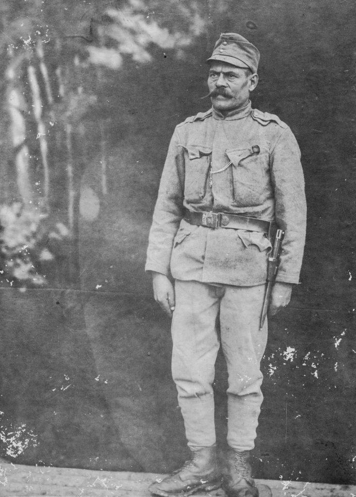 Fodor Mihály (1887-1960) egyenruhában.