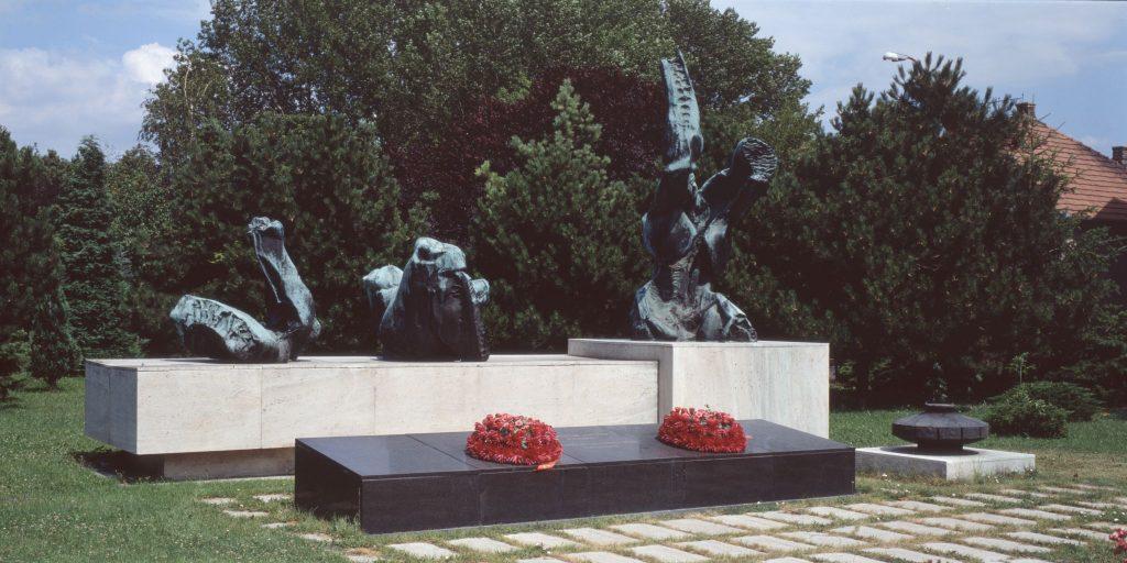 A fasizmus áldozatainak emlékműve.