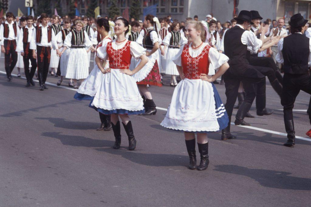 Május 1-jei felvonulás Dunaszerdahelyen.
